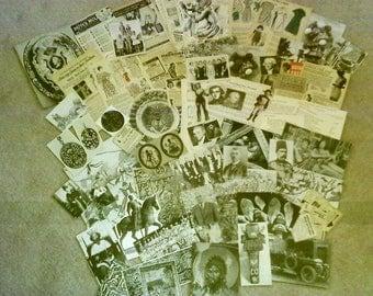 65 pc VINTAGE ephemera PAPER crafting lot-item#430-SCRAPBOOKING art collage destash supplies