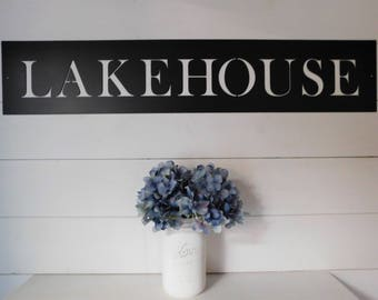 Lakehouse Sign, Lake House Sign,  Metal Lakehouse Sign, Farmhouse Decor, Lakehouse decor, Vacation home decor