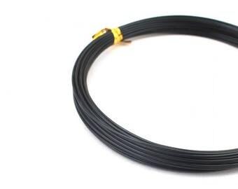 10 m black 2mm aluminum wire