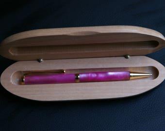 pink pen gold fittings handmade valentines  present wife girlfriend. anniversary