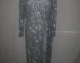 Black long gown#9624