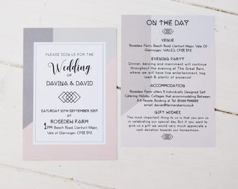 Modern love wedding invite sample