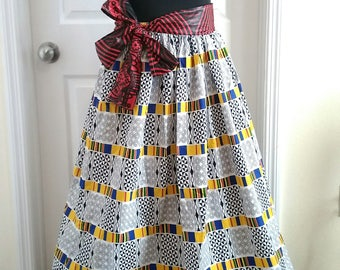 Kente Kween Maxi Skirt/Dress