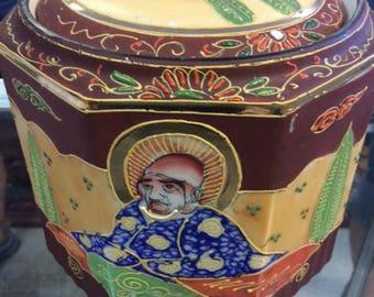 Handpainted Japaneese Ice Bucket