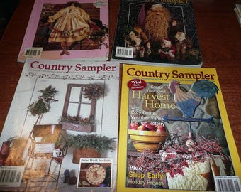Country Sampler Magazines 1995-2001 Issues