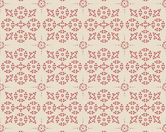 Raspberry Parlor dot in Cream by Sue Daily for Riley Blake by the HALF yard, C4055-Cream