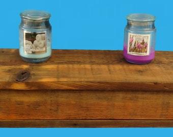 hidden drawer barn wood floating shelf,reclaimed barn wood shelf-631