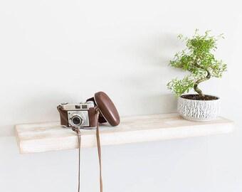 Rustic White Oak Floating Shelves 200mm Deep | Including Floating Shelf Fixings | Oak Wall Shelves Widths from 40-100cm