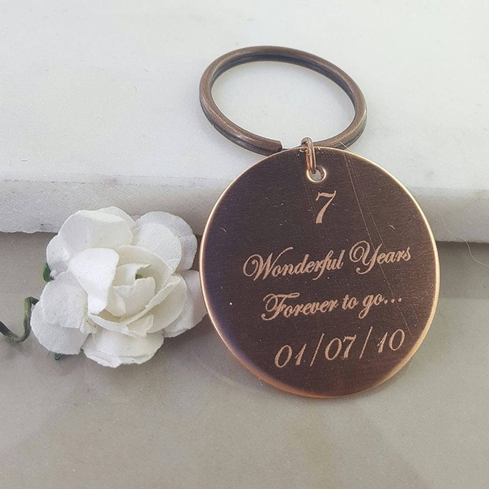 Copper Anniversary Gift, Gift for Husband, Gift for Wife, forever to ...