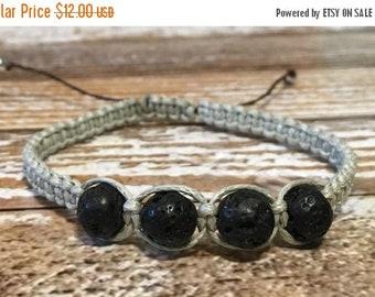 SALE Lava Rock Bracelet / Healing Crystal Bracelet / Essential oil diffuser bracelet / Mens Bracelet / Healing Bracelet / Lava Rock