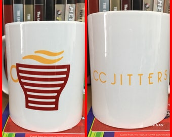 Flash Cosplay Inspired CC Jitters Mug - The Flash Central City Coffee Shop Cup by Rev-Level