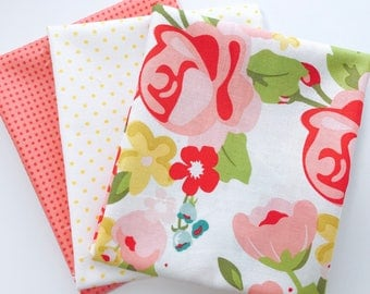 Fat Quarter Bundle Hello Gorgeous by My Minds Eye For Riley Blake Designs - 3 Fabrics