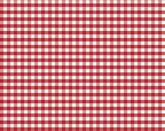 "1 Yard -1/4"" Medium Gingham by Riley Blake Designs- Red C450-80"