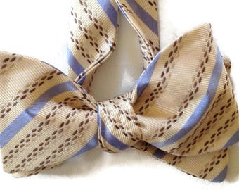 Silk Bow Tie  for Men - Covert - One-of-a-Kind, Handcrafted - Self-tie - Free Shipping