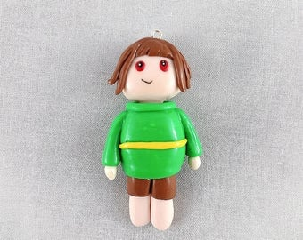 Undertale Chara figure / Undertale figurine / Undertale genocide route / clay figure / polymer clay figurine / polymer clay figure