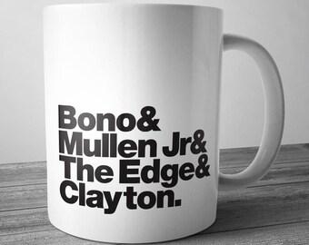 U2 Rock Band Mug