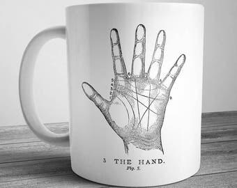 Vintage Fortune Telling Hand Mug