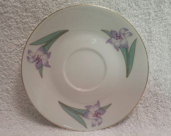 With love mother,Fine porcelain saucer by Russ Berrie & Co. #4960
