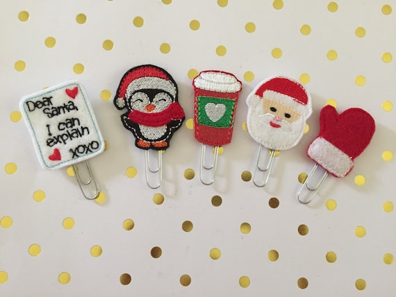 Holidays Are Here planner Clip Pack/Planner Clip/Bookmark. Christmas planner clip/Holiday planner clips/santa planner clip/penguin planner