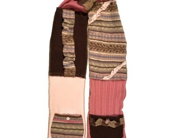 One-of-a-kind, Up-cycled, Sweater Scarf