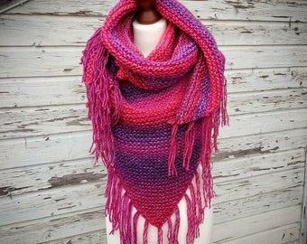 XL Shawl * scarf * scarf * hand Knitted * handmade