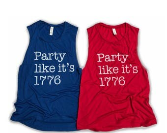 Adult Party like its 1776 tank top