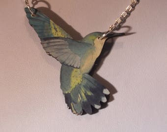 i like birds necklace statement super kitsch and fun