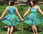 All-Over Print of an Original Oil Painting on a Skater-Style Dress