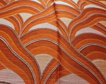 Vintage 70s Fabric 50 x 120 cm red waves