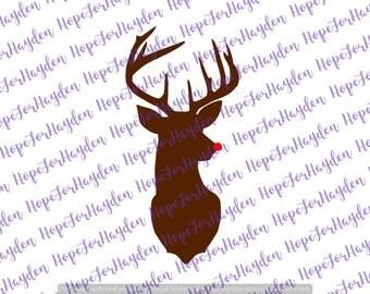 Rudolph SVG | Reindeer SVG | Christmas svg | Cutting file | Cricut | Silhouette Designer Edition | Deer svg