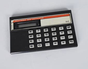 Electronic Calculator, VIntage Mini Calculator, Made in China small Calculator, Credit Card Format 8 Numbers Calculator, Pocket Format Count