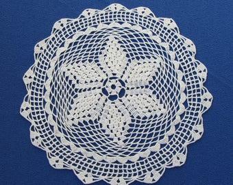 Crochet cotton lace, Crochet lace napkin, Cotton USSR napkin, Cotton lace doilies, Table doily, Vintage Table decor doilies, Wedding gift
