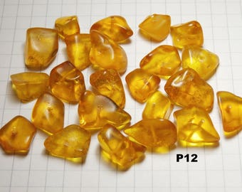 P12 / 10g honey color amber beads