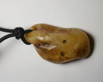 P59 amber pendant necklace natural yellow color