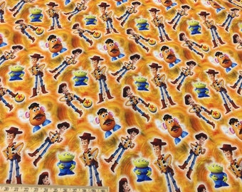 Toy Story fabrics,  New Arrival, digital printed cotton lycra knit  - 1 meter