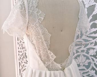 Bohemian Wedding Dress / Beach Boho Dress / Made to measure / Hippie Bohemian Romantic