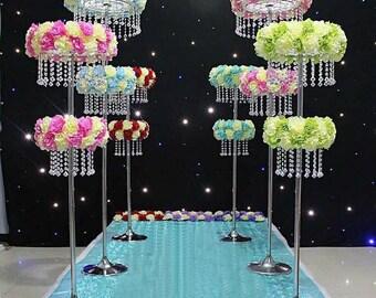 Chandelier vase etsy wedding center piece chandeliertabletop chandelierwedding centerpiece for table tall vaseeffeil aloadofball Gallery