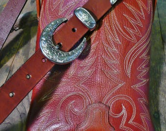 Cowboy boot purse with belt strap