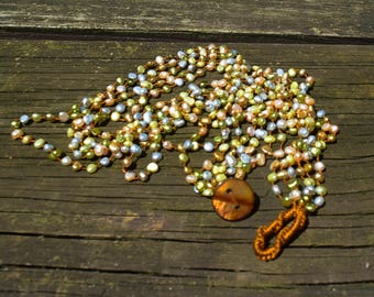 Freshwater Pearl Necklace Vintage Pearls Hand Knotted Pearls Multi Strand Pearl Necklace Cultured Pearls