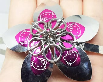 Hello Kitty Scale Flower Chainmaille Headband