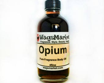 OPIUM, 1oz Glass Bottle, Pure Fragrance Body Oil