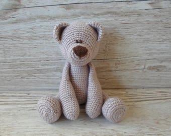 Pink Teddy Bear, Crochet Teddy Bear, Pale Pink, Baby Shower Gift, New Baby Gift, Birthday