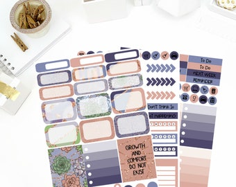 Growth Weekly Kit Stickers! Perfect for your Erin Condren Life Planner, calendar, Paper Plum, Filofax!