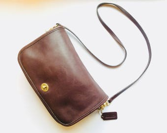 Brown leather Coach bag vintage brown coach purse vintage leather coach cross body bag coach brown leather purse authentic vintage coach bag