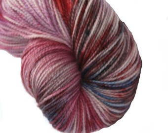 Fuchsia medley Hand Dyed 4ply Yarn