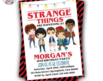 Stranger Kids Invitation, Stranger Party Invitation, Stranger Birthday, Strange Birthday