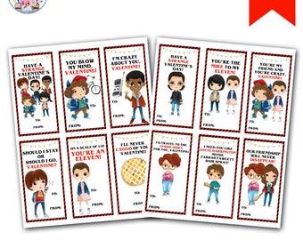 Stranger Kids Valentines, Strange Valentine's Day Cards, Stranger Valentine's