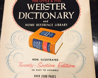 Vintage Websters Dictionary with Vintage Box
