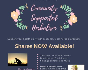 Monthly Herbal Box: Community Supported Herbalism (LOCAL ONLY)
