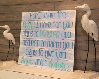 Jeremiah 29:11 Scripture Reclaimed Wood Sign
